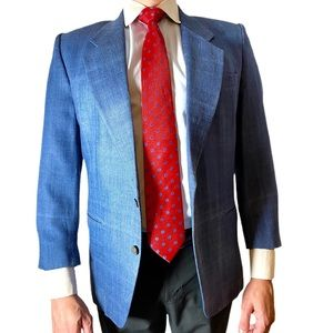 Countess Mara Vintage Denim/Silk Men's Suit Jacket